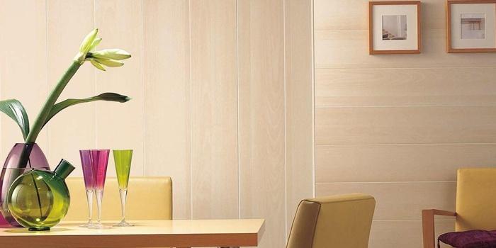 Пластиковые панели в дизайне гостиной