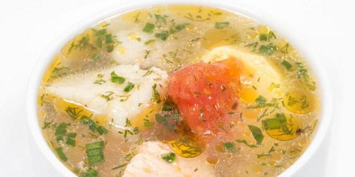 Суп из рыбы белых сортов