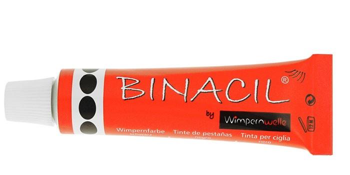 Туба с краской для бровей и ресниц Binacil