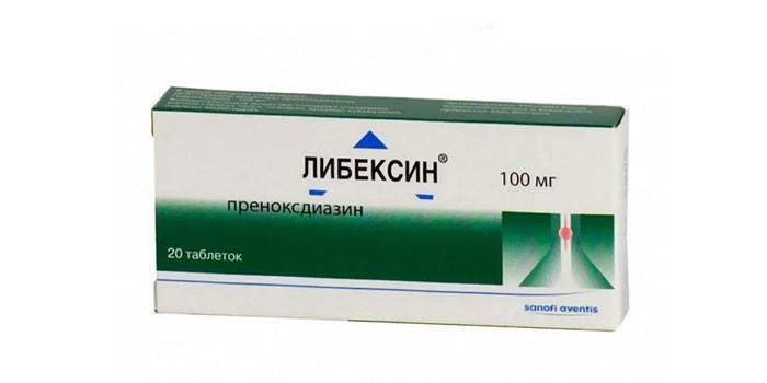 Таблетки Либексин в упаковке