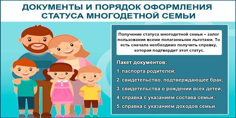 Документы на удостоверение многодетной семьи