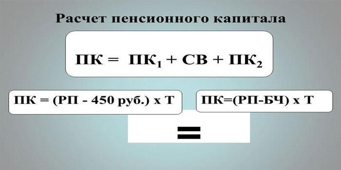 Формула расчета пенсионного капитала