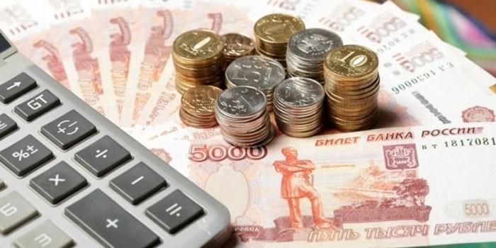 Монеты, купюры и калькулятор