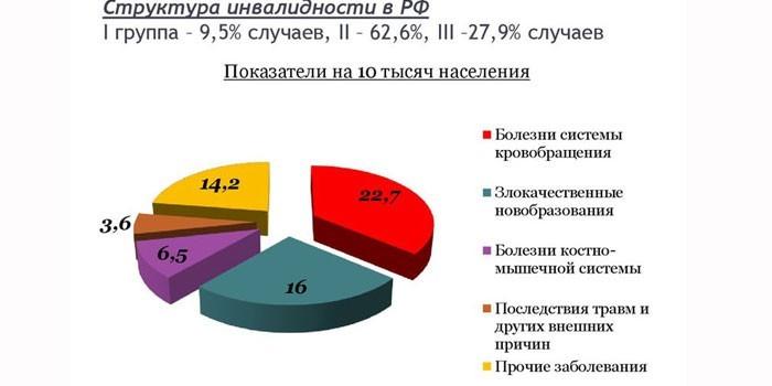 Структура инвалидности в России
