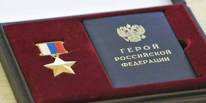Медаль Золотая звезда и удостоверения Героя России