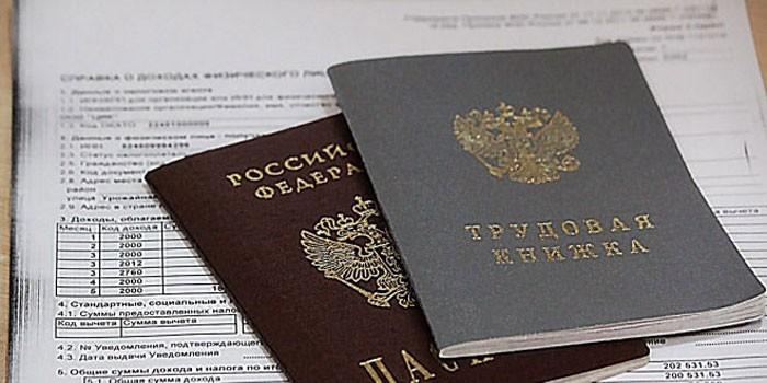 Паспорт, трудовая книжка и справка о зарплате