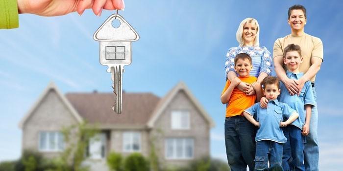 Дом и многодетная семья