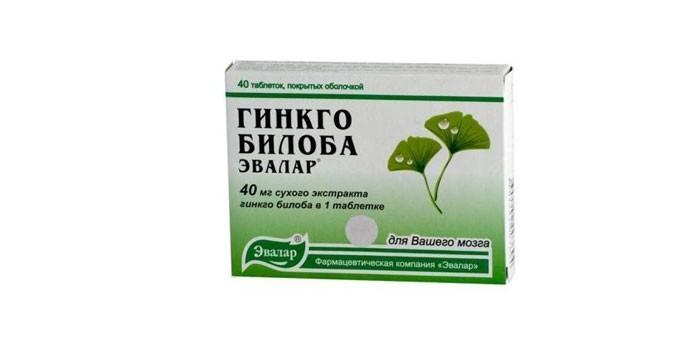 Таблетки Гинкго билоба