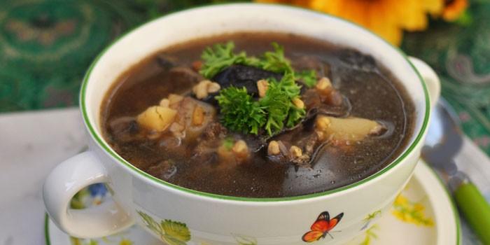 Грибной суп с картошкой