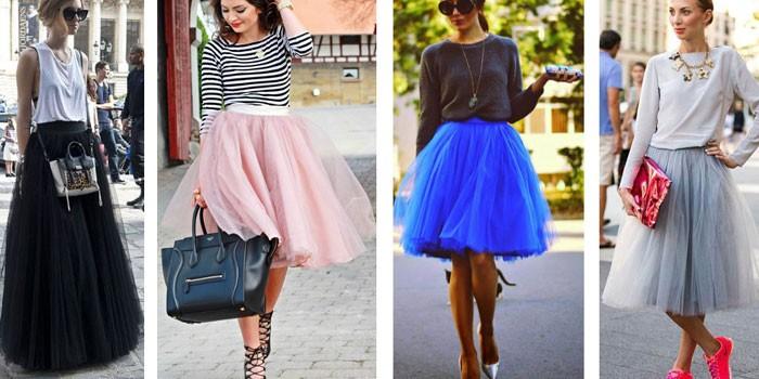Девушки в пышных юбках из шифона