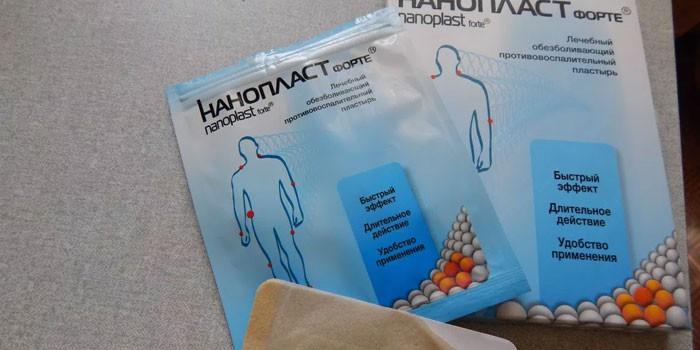 Трансдермальный пластырь Нанопласт в упаковке