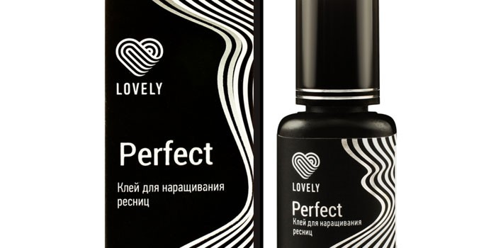 Черный клей для наращивания ресниц Lovely Perfect