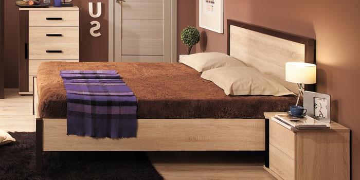 Кровать двуспальная с подъемным механизмом Bauhaus