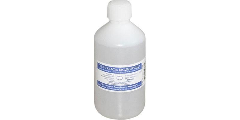 Перекись водорода во флаконе