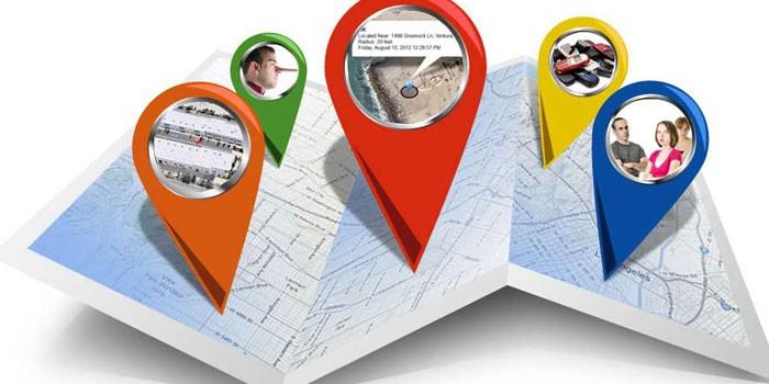 Объекты на карте местности