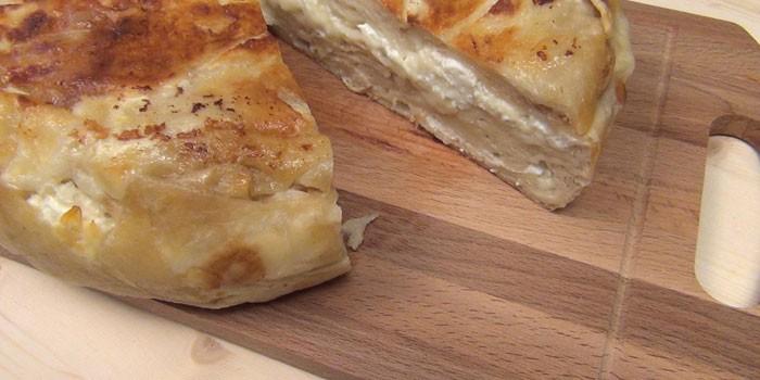 С творожно-сырной начинкой