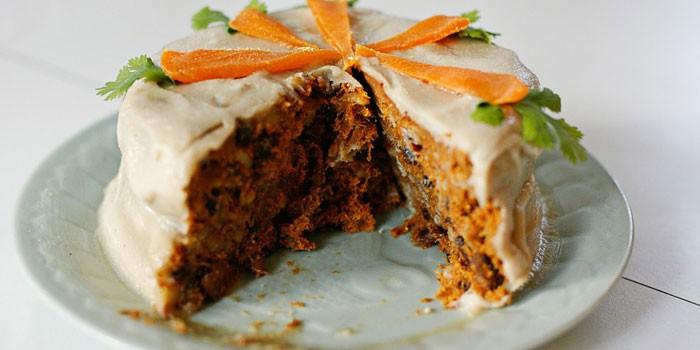 Морковный пирог с овсяной мукой