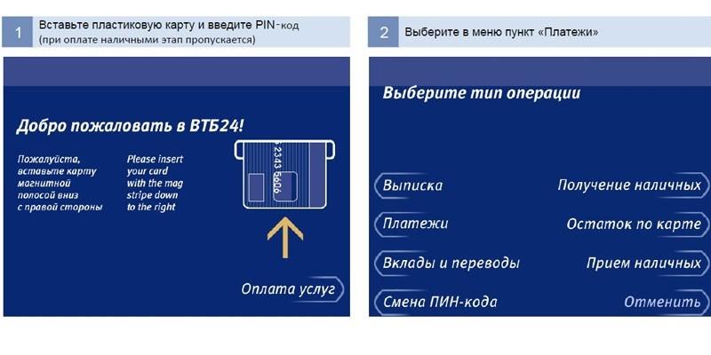 Интерфейс банкомата