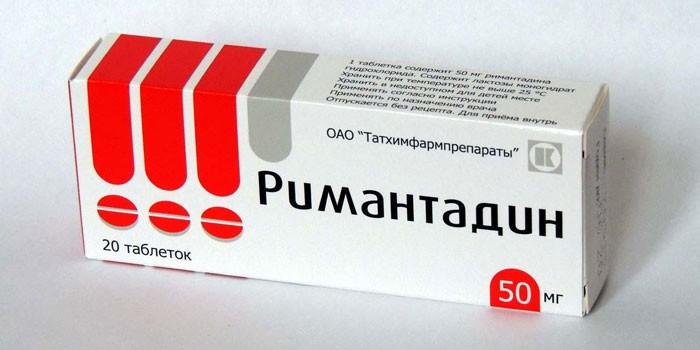 Таблетки Ремантадин в упаковке