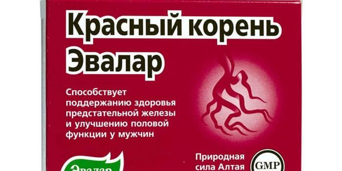 Препарат Красный корень в упаковке
