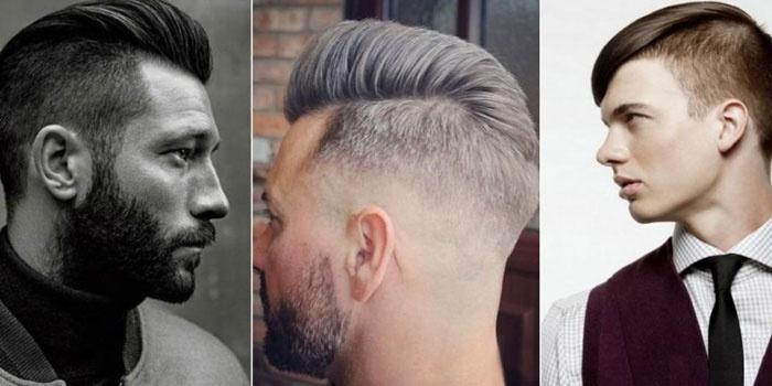 Мужчины со стрижками с выбритыми висками