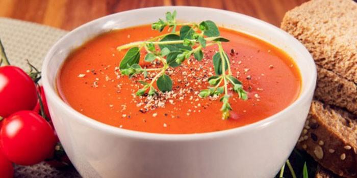 Итальянский помидорный суп-пюре