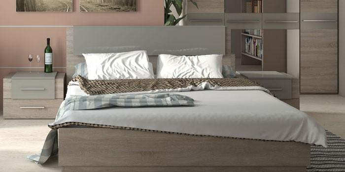 Ортопедическая двуспальная кровать с подъемным механизмом Ларго от Hoff