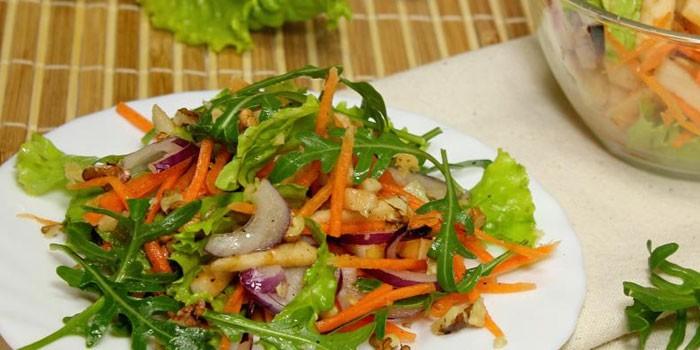 Рецепт с морковью и рукколой