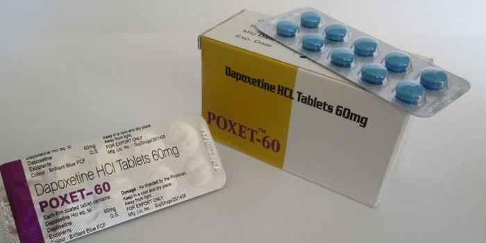 Таблетки Дапоксетин в упаковке и Виагра