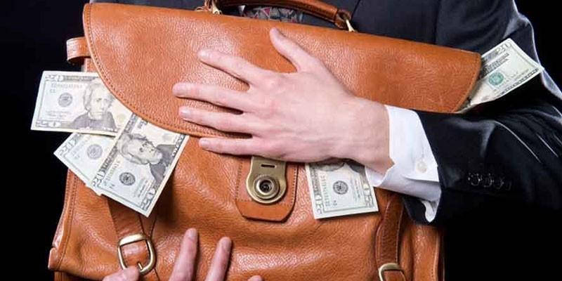 Денежные купюры в портфеле