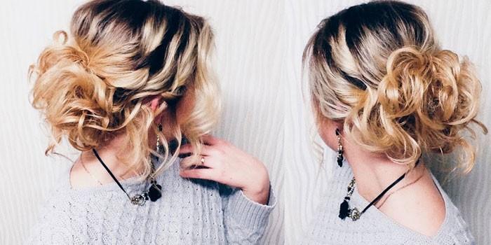 Повседневная прическа на волосы до плеч