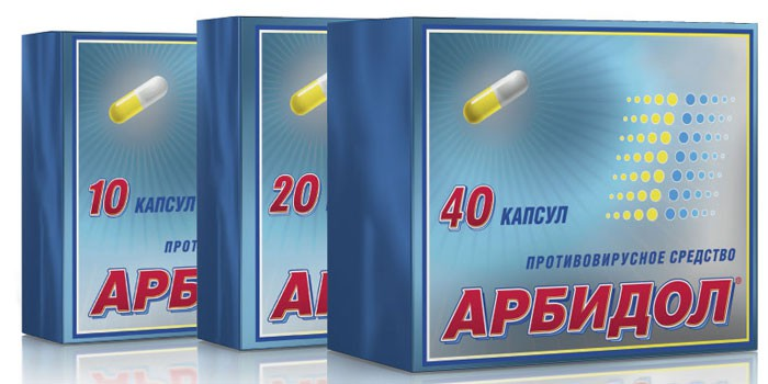 Капсулы Арбидол в упаковке