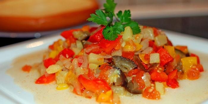 Диетическое овощное соте