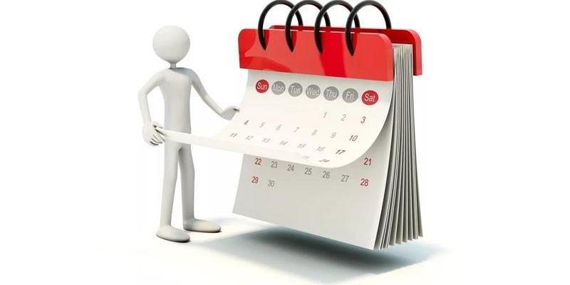 Человечек и календарь