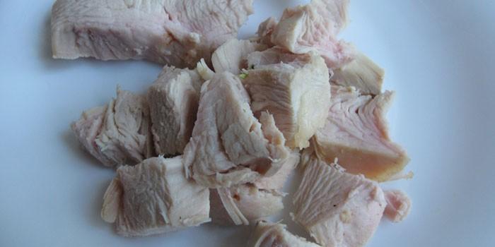 Вареное мясо индейки