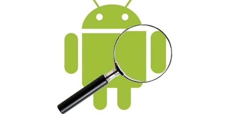 Логотип Андроид и лупа