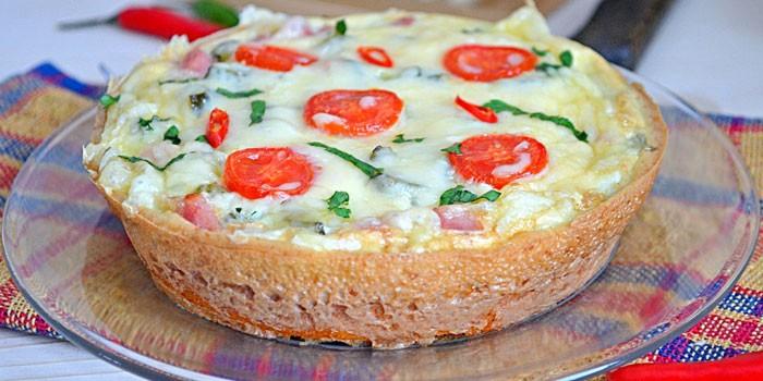 Домашняя ленивая пицца