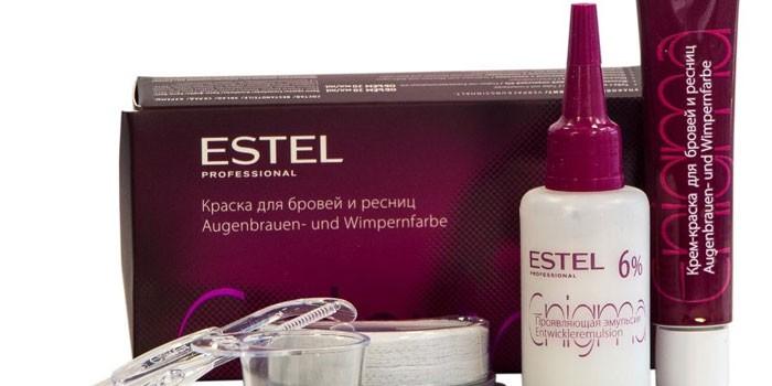 Стойкая краска для бровей и ресниц Estel Enigma