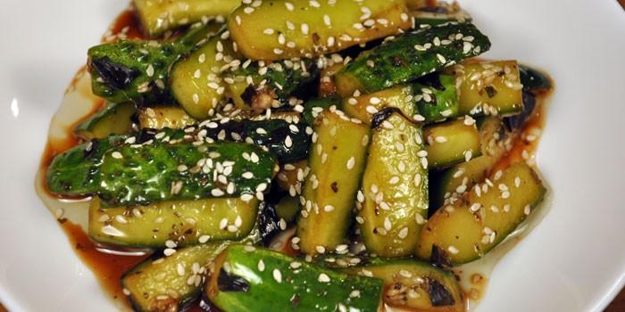 Приготовленные по-китайски с кунжутом