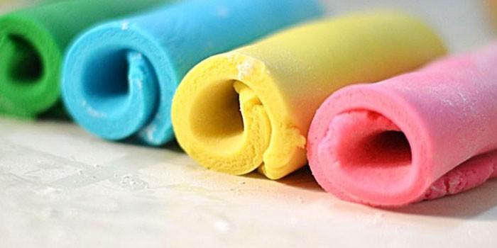 Разноцветная мастика из маршмеллоу