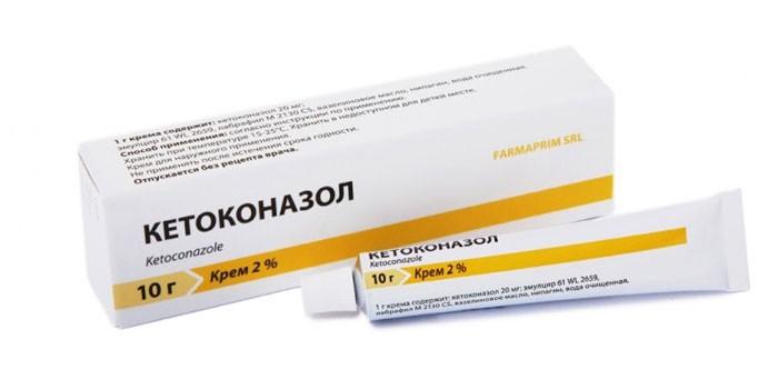 Мазь Кетоконазол в упаковке