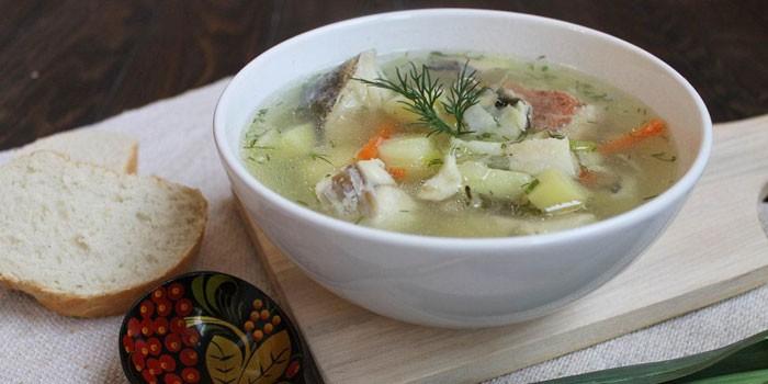 Суп с картофелем и морской рыбой