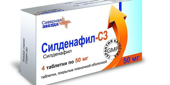 Таблетки Силденафил С3 в упаковке
