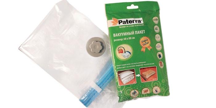 Вакуумный пакет с клапаном PATERRA с клапаном для вещей