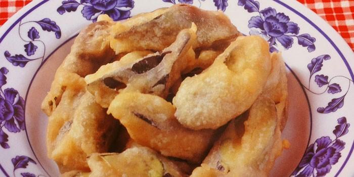 Хрустящие жареные баклажаны по-китайски в кляре
