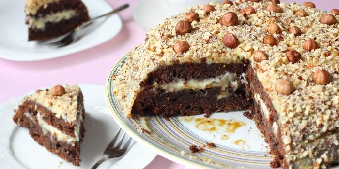 Шоколадно-ореховый с фундуком