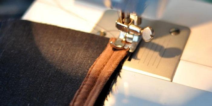 Прострочка канта на швейной машинке