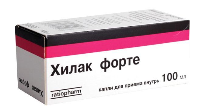 Капли Хилак Форте в упаковке