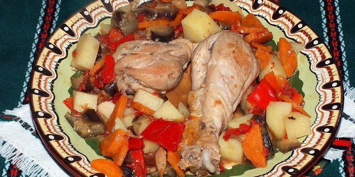 Тушеное с овощами