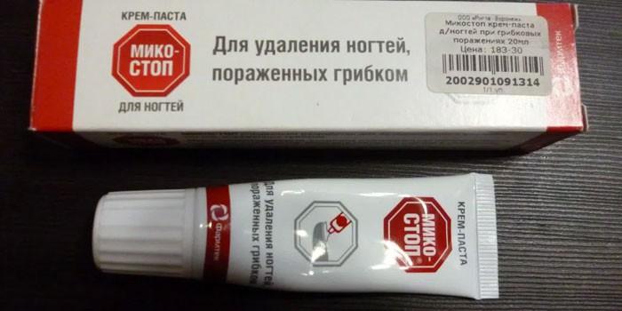Крем-паста Микостоп в упаковке